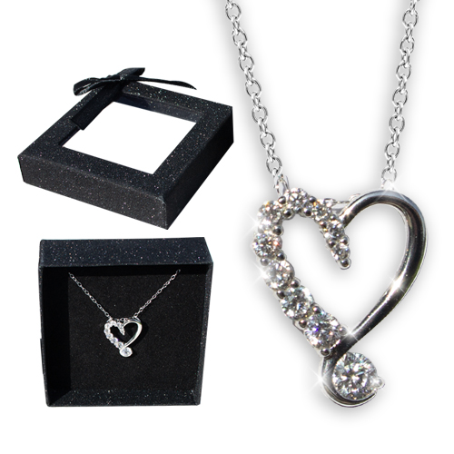 Crystal Drop Heart Necklace Image