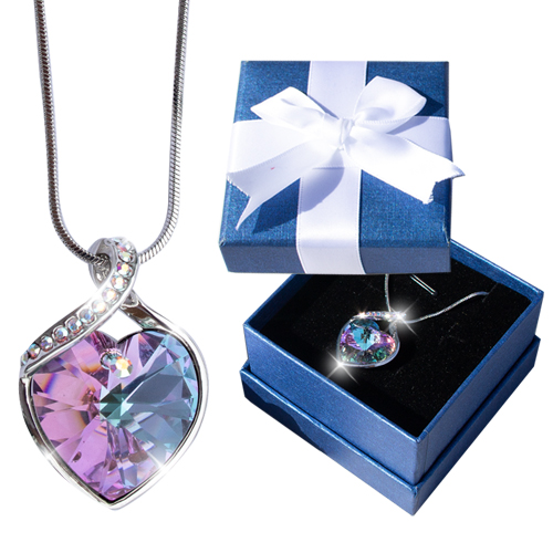 Swirl Crystal Necklace Image