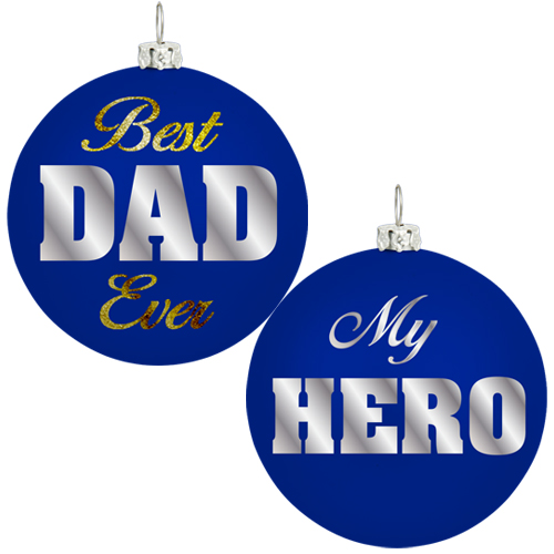 Best Dad Christmas Ornament Image